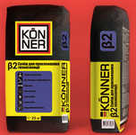 Смесьдляприклеиваниятеплоизоляции КONNER Beta-2, 25кг
