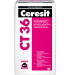 Штукатурка декоративная структурная CERESIT СТ-36, 25 кг